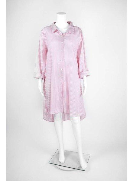 Tulip Long Sleeve HiLo Basic Shirt Dress