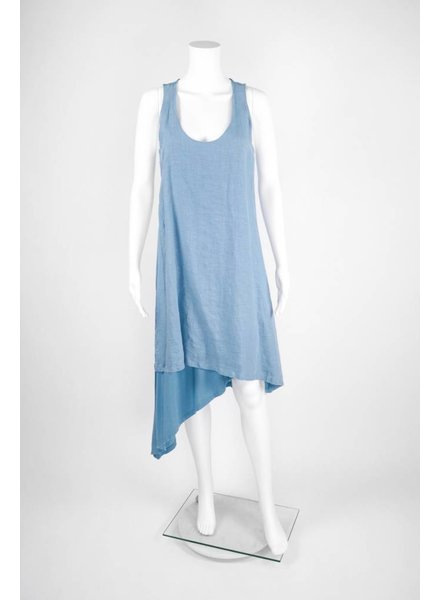 Fresh Laundry Two Toned Scoop Neck Tank Top Dress