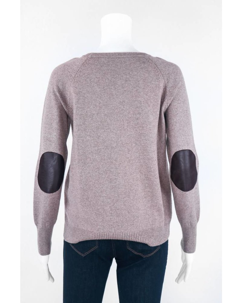 Long Sleeve Sweater With Elbow Pads