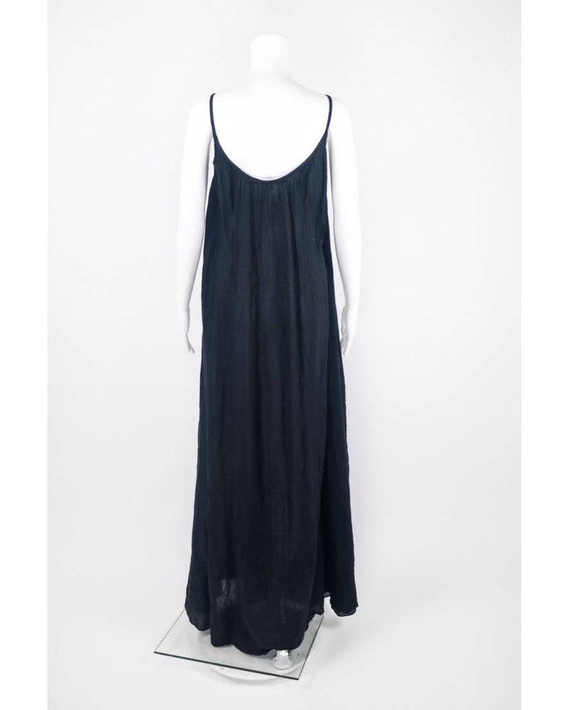 Love Tan Jane Gauze Maxi Dress
