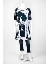 Omdaya Short Sleeve Chanel Dress
