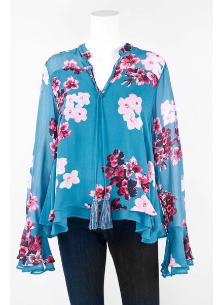TIMO Long Sleeve Bouquet Print Top