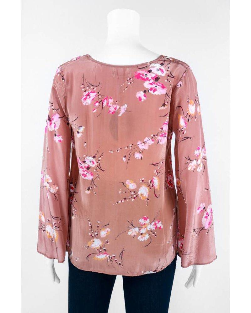 TIMO Long Sleeve Aroma Flower Print Top