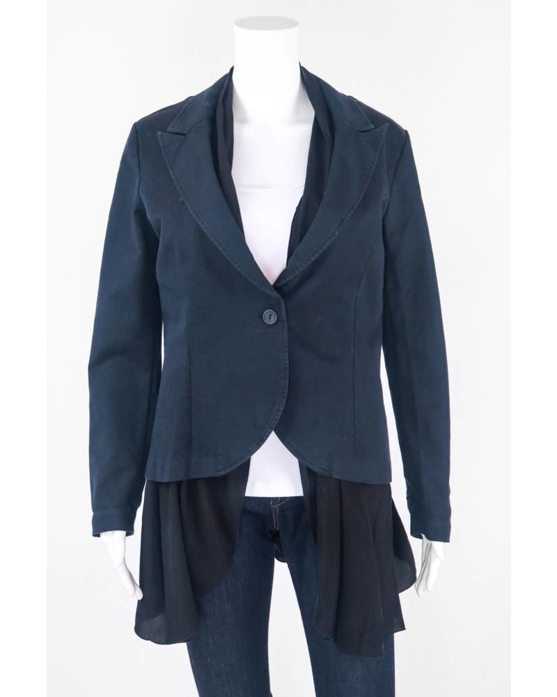 European Culture Cotton Buttoned Jacket With Slip