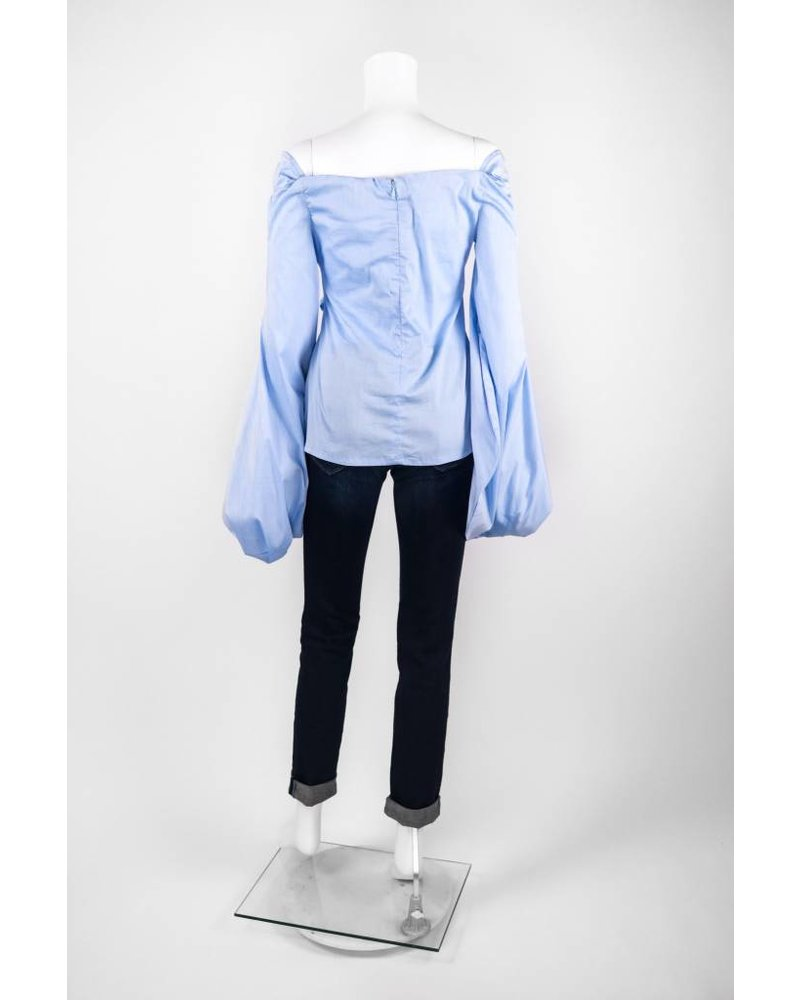 Why Dress Long Flared Sleeve Front Tie Top