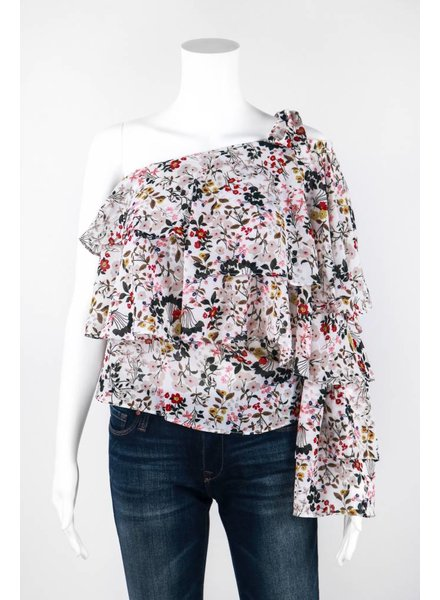 Why Dress One Shoulder Floral Top