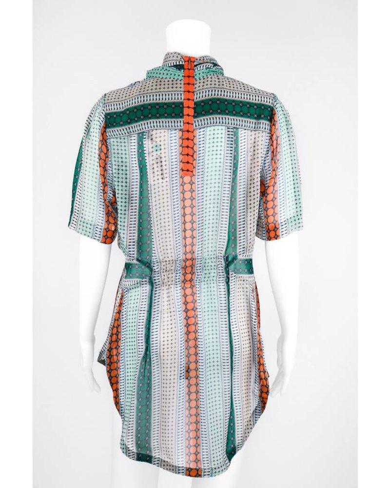 Byron Lars Beauty Mark Pattern Button Down Shirt