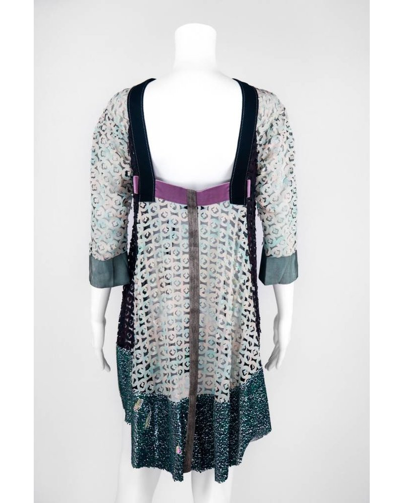 Byron Lars Beauty Mark Geisha Tunic Top With Sequin Border