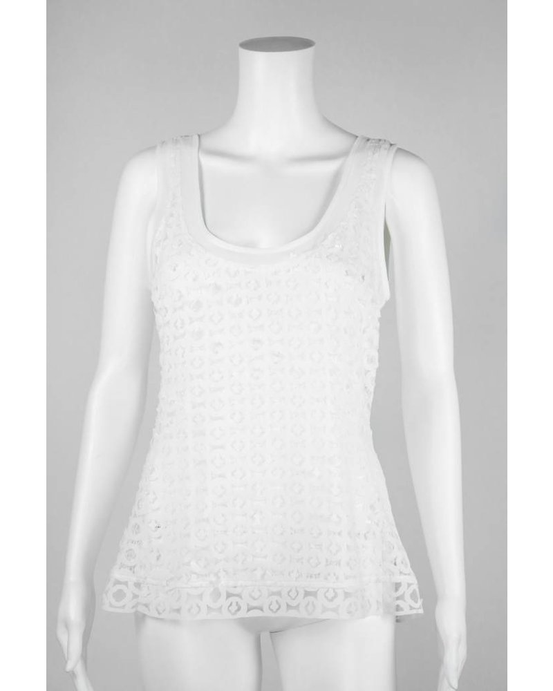 Byron Lars Beauty Mark Laser Cut Tank