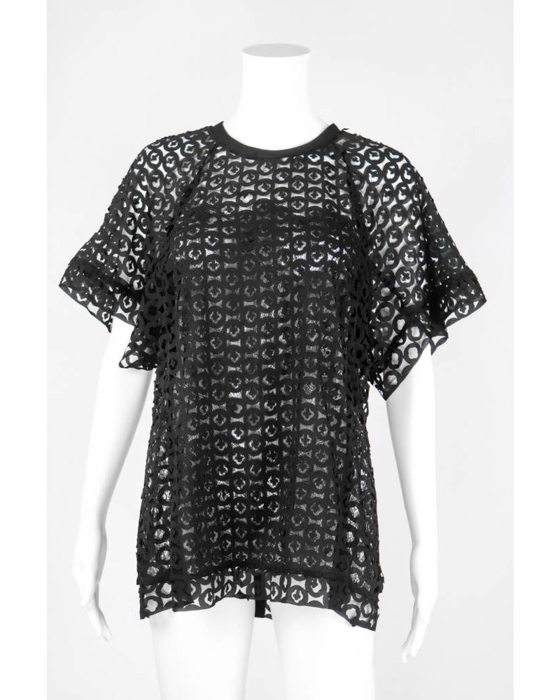Byron Lars Beauty Mark Laser Cut Tee