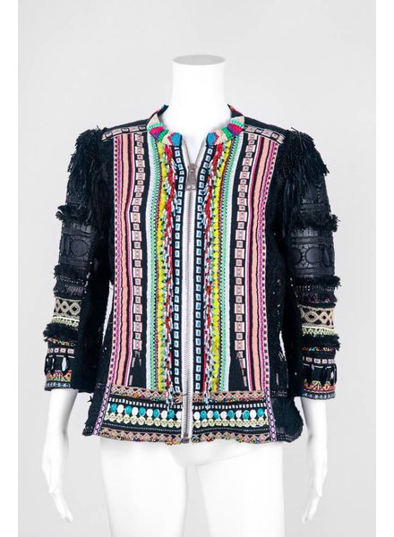 Byron Lars Beauty Mark Multi Print Jacket