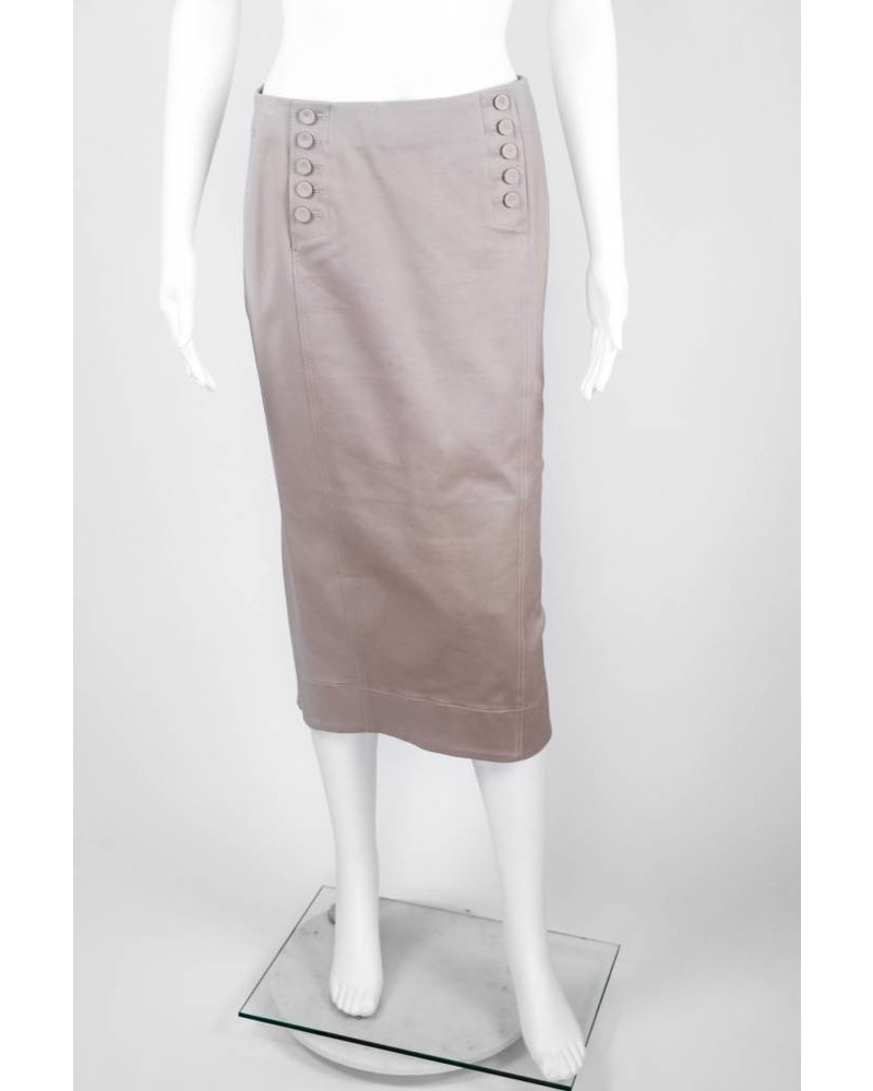 Byron Lars Beauty Mark Button Front Skirt