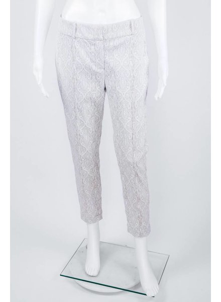 Byron Lars Beauty Mark White Lace Pant