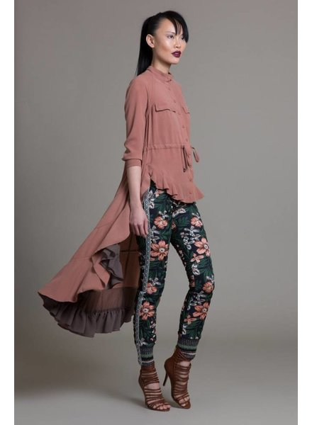Byron Lars Beauty Mark Floral Spice Jacqured Jogger
