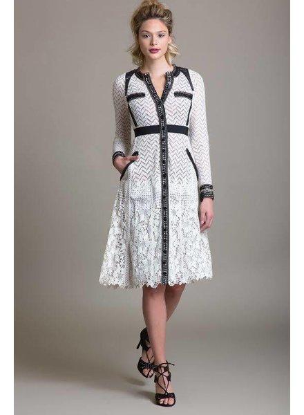 Byron Lars Beauty Mark Patterned Dress
