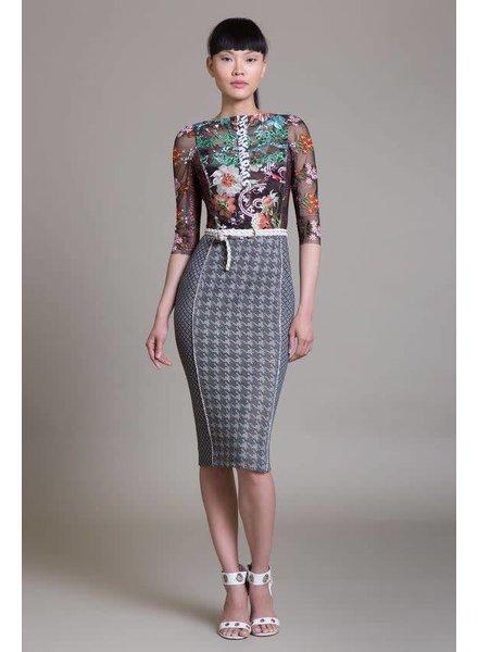 Byron Lars Beauty Mark Oriental Elizabeth Dress