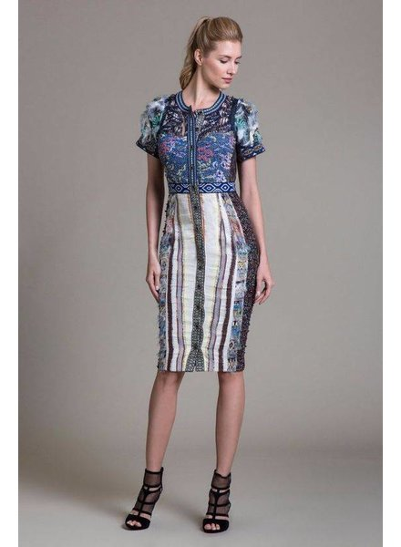 Byron Lars Beauty Mark Multi Patterned Dress