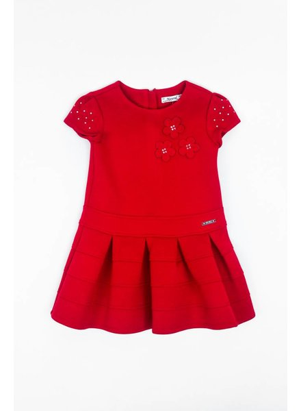 Mayoral Daisy Dress With Sparkly Sleeves