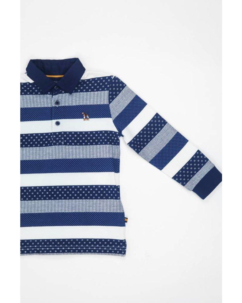 Mayoral Button Collar Striped Shirt