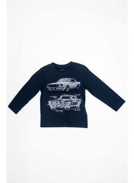 Mayoral Long Sleeve Car T-Shirt