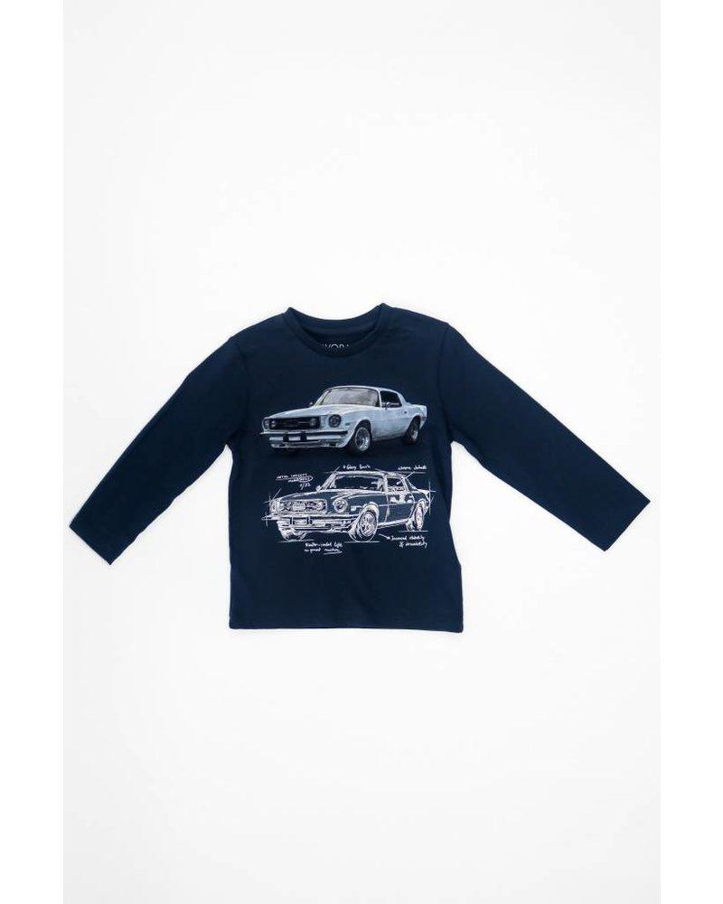 Mayoral Long Sleeve Car T-Shirt