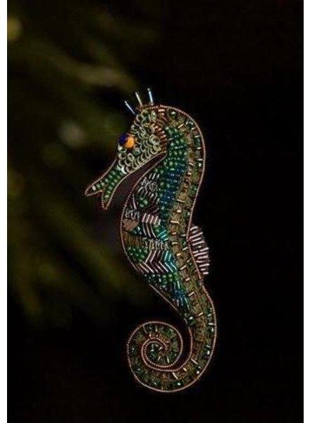Trovelore Sage Seahorse Brooch