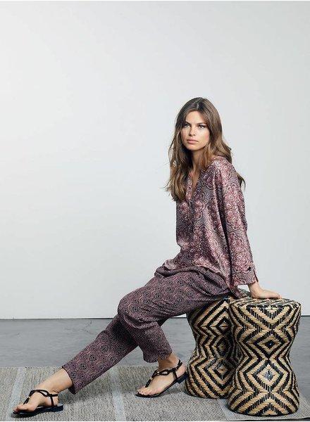 Lauren Vidal Paisley Blouse & Tri-Color Pant