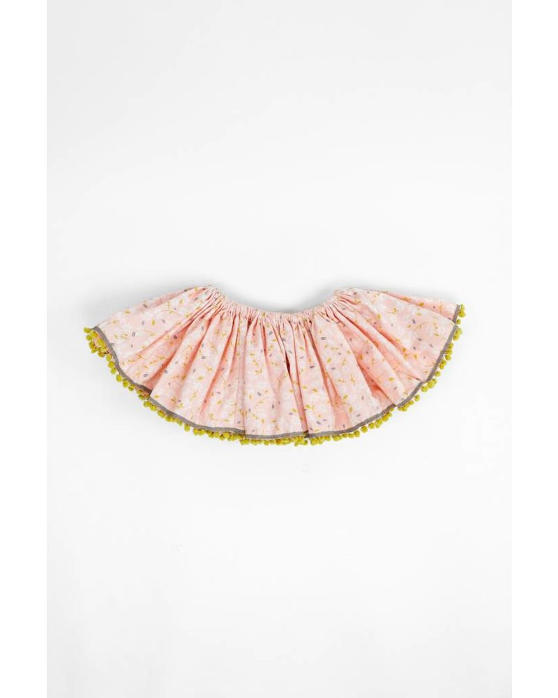 Oh Baby! Ditzy Flowers Mustard Fringe Butterfly Skirt