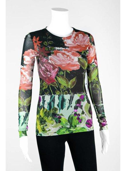 Petit Pois Long Sleeve Floral Print Shirt