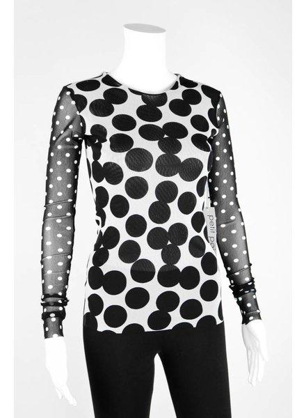 Petit Pois Mixed Dot Long Sleeve Shirt