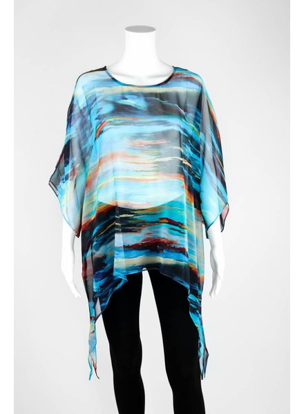 Cocoon House Silk Pointed Long Tunic