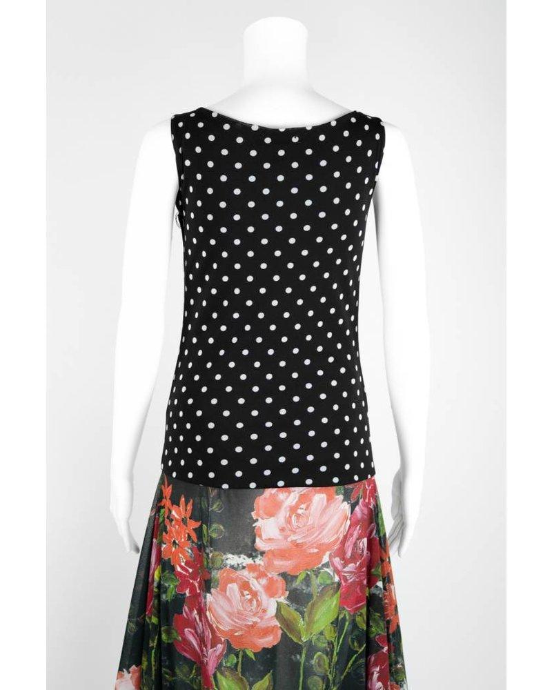 Petit Pois Dot/Floral Print Maxi Dress