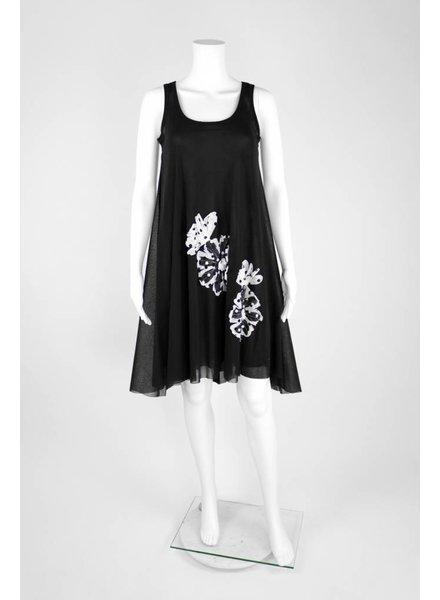 Petit Pois Sleeveless White Dot Applique Dress