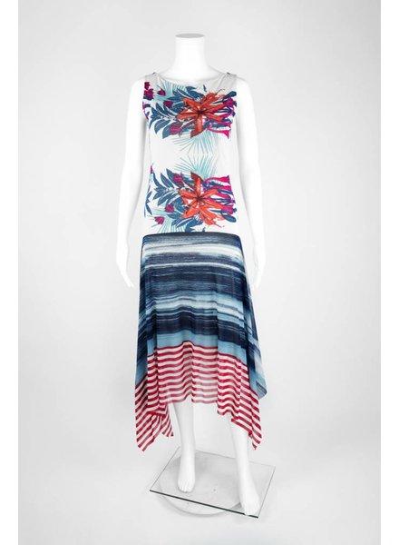Petit Pois Mixed Floral/Stripe Maxi Dress