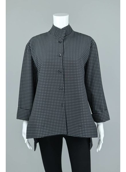 M Square Poly/Cotton White Checks Button Blouse