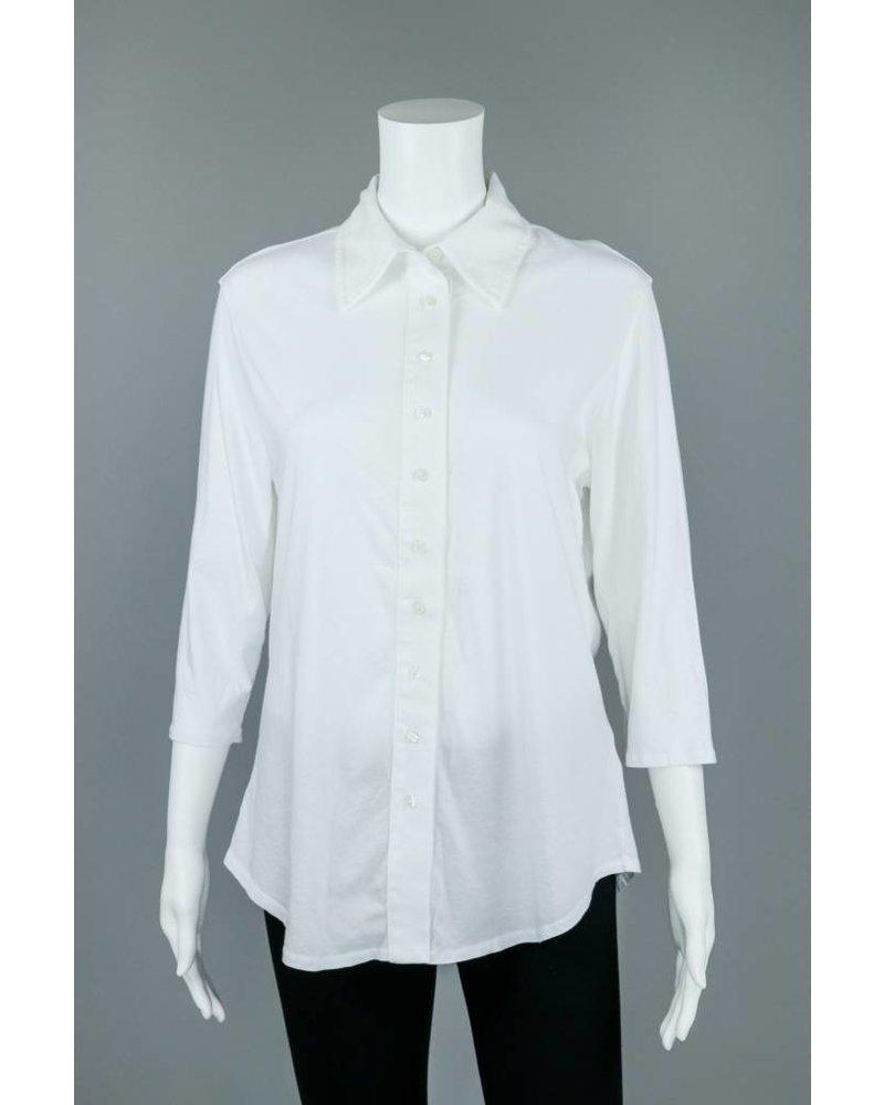 Prairie Cotton Cotton 3/4 Sleeve Relaxed Shirt