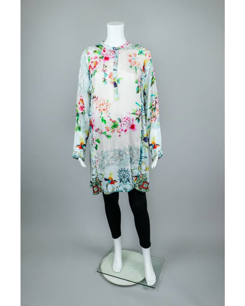 Johnny Was Frica Blue Print Henly Tunic