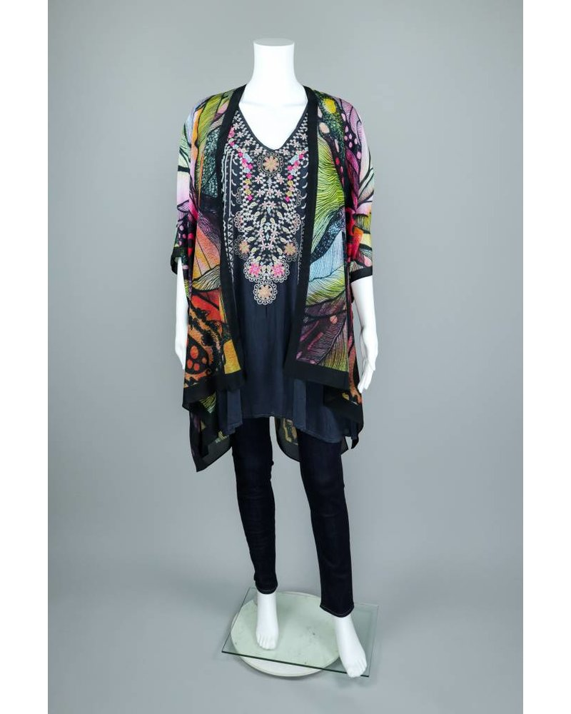 Joy' The Butterfly Design Long Kimono by Cocoon House