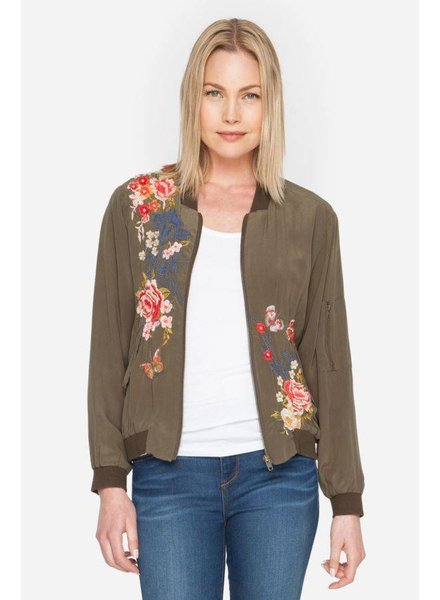 Johnny Was Lucy Embroidery Bomber Jacket