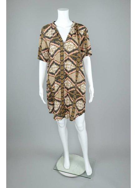 The O'Dells Blue Coral Print Dress