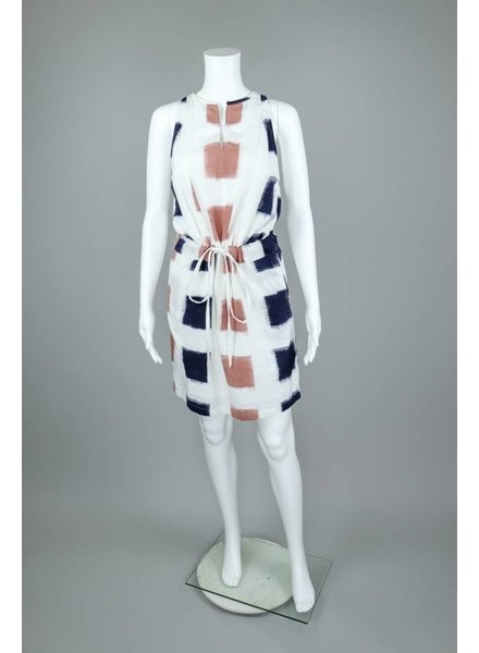 The O'Dells V Neck Sleeveless Dress With Belt