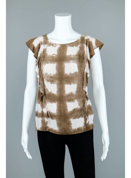 The O'Dells Dip Dyed Cap Sleeve Blouse