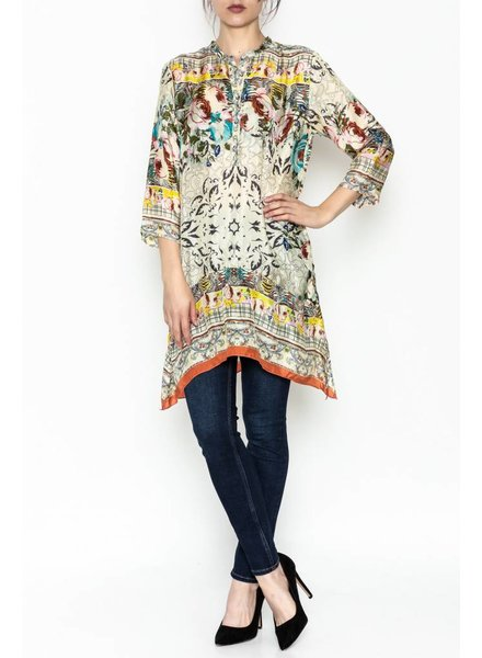 Johnny Was Tribute Print Henly Tunic