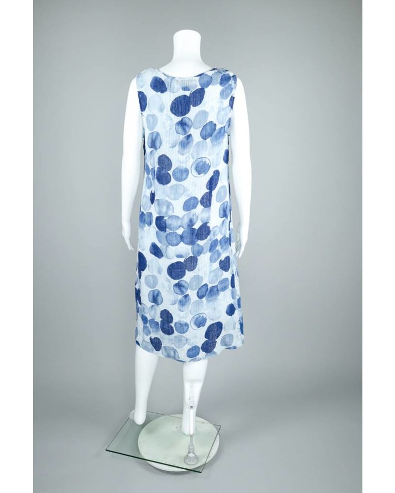 Alison Sheri Combo Linen Dress