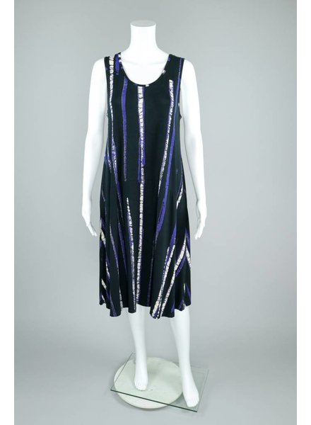 Bel Kazan Knit Stripe Tie Dye Midi Dress
