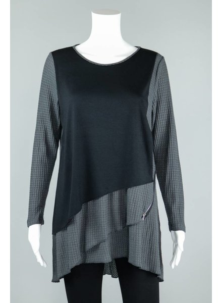 Comfy USA Kelly Textured Knit Tunic