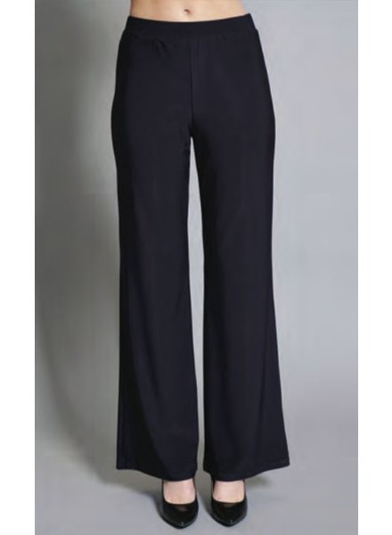 Compli K Navy Knit Wide Leg Pant