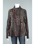 Prairie Cotton Foxtail Print Long Sleeve Swing Turtle