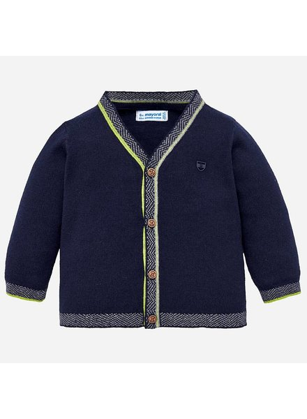 Mayoral Navy Knit Button Down Cardigan