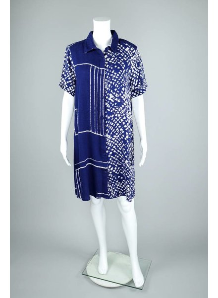 Bel Kazan Tile Print Button Front Dress